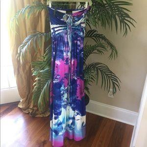 Tropical Summer Maxi Dress